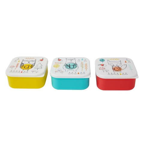 Alphabet Animals Square Lunch Box Asstd